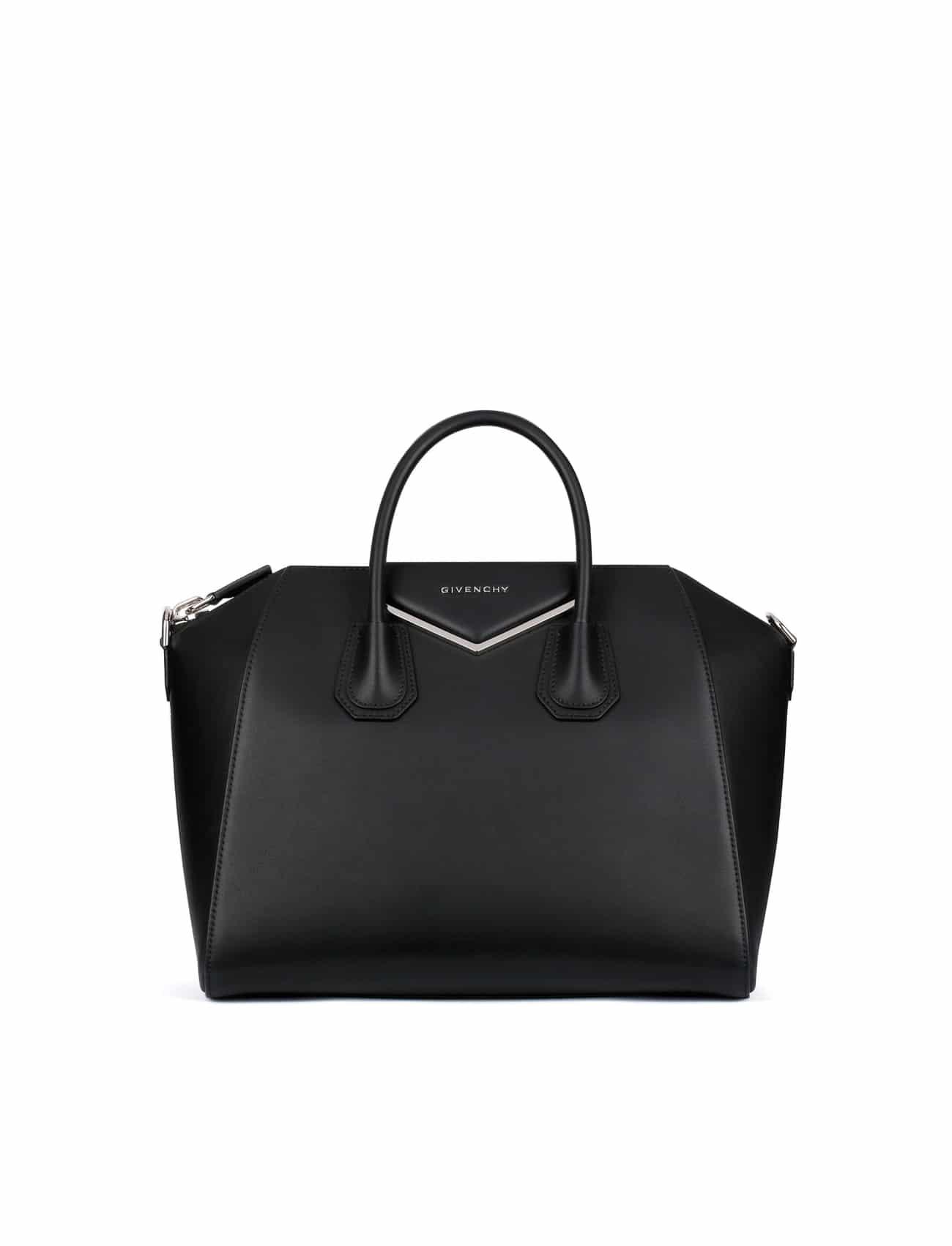ab601ddfb9 Givenchy Black Medium Antigona Bag with Metal Details