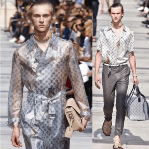 Louis Vuitton Beige Ostrich Messenger Bag and Dune Monogram Canvas Keepall Bag - Spring 2017