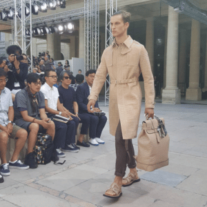 Louis Vuitton Beige Ostrich Steamer Bag - Spring 2017