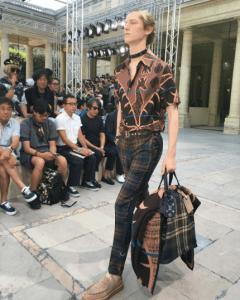 Louis Vuitton Dark Green Plaid Tote Bag - Spring 2017
