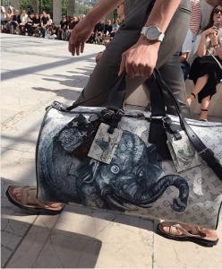 Louis Vuitton Dune Monogram Canvas with Elephant Print Keepall Bag 2 - Spring 2017