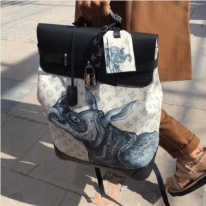 Louis Vuitton Dune Monogram Canvas with Rhinoceros Print Backpack Bag - Spring 2017