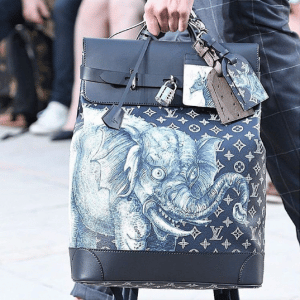 Louis Vuitton Encre Monogram Canvas with Elephant Print Backpack Bag - Spring 2017