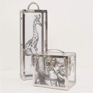 Louis Vuitton Giraffe and Elephant Print Perspex Trunks Bags - Spring 2017
