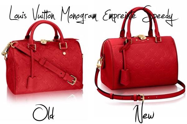 98c00fee383a New Design for the Louis Vuitton Monogram Empreinte Speedy Bag for 2016