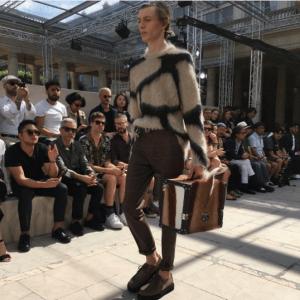 Louis Vuitton Tan Shearling Mini Trunk Bag 2 - Spring 2017