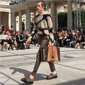 Louis Vuitton Tan Shearling Mini Trunk Bag - Spring 2017