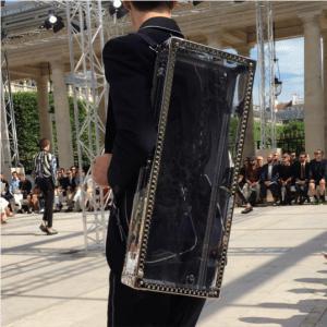 Louis Vuitton Giraffe Print Perspex Trunk Bag - Spring 2017