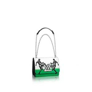 Louis Vuitton White/Green:Black Epi Football Print City Twist PM Bag