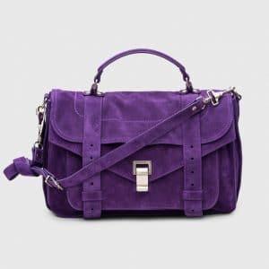 Proenza Schouler Amethyst Suede PS1 Medium Bag