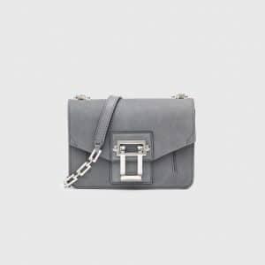 Proenza Schouler Heather Grey Suede Hava Crossbody Bag