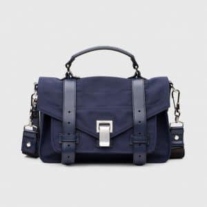 Proenza Schouler Indigo Nylon PS1 Tiny Bag