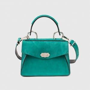 Proenza Schouler Malachite Suede Hava Small Top Handle Bag
