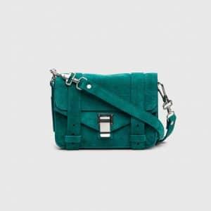 Proenza Schouler Malachite Suede PS1 Mini Crossbody Bag
