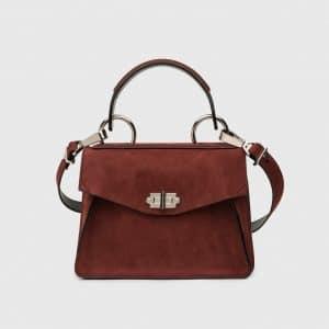 Proenza Schouler Midnight Plum Suede Hava Small Top Handle Bag