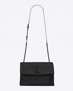 Saint Laurent Black Monogram West Hollywood Medium Bag