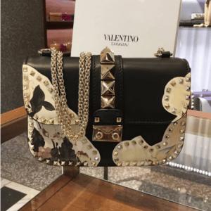 Valentino Black Kimono 1997 Print Lock Flap Bag 2