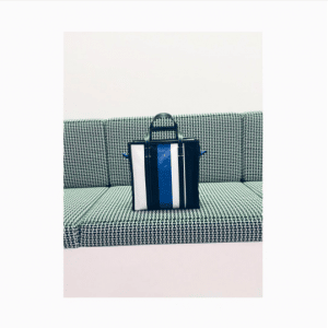 Balenciaga Black/Blue Bazar Shopper S Bag 3
