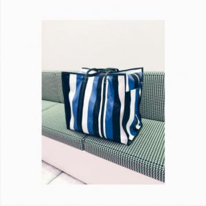 Balenciaga Black/Blue Bazar Shopper XL Bag 2