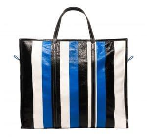 Balenciaga Black/Blue Bazar Shopper XL Bag