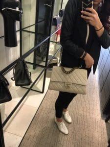 Chanel Beige Large Trapezio Bag