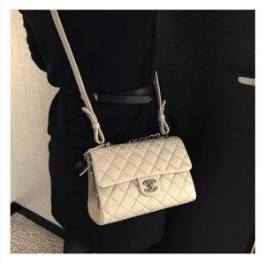 Chanel Beige Small Trapezio Bag 2