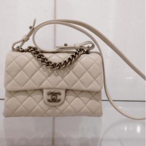Chanel Beige Small Trapezio Bag