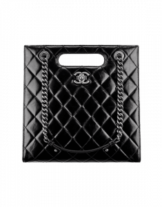 Chanel Black Calfskin Small Shopping Bag