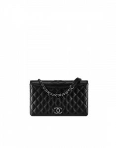 Chanel Black Calfskin/Fabric Ballerine Small Flap Bag