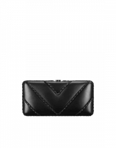 Chanel Black Lambskin Evening Bag