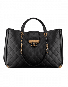 Chanel Black Around The Corner Large Shopping Bag