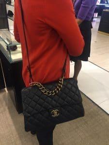 Chanel Black Large Trapezio Bag 2