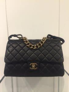 Chanel Black Large Trapezio Bag