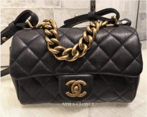 Chanel Black Mini Trapezio Bag 2