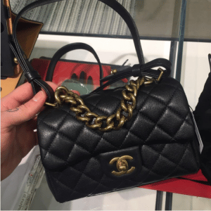 Chanel Black Mini Trapezio Bag 3