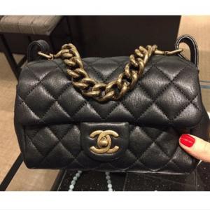 Chanel Black Mini Trapezio Bag