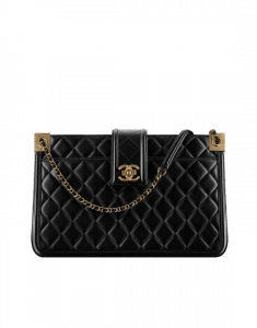 Chanel Black Quilted Calfskin Small Shopping Bag