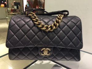 Chanel Black Small Trapezio Bag