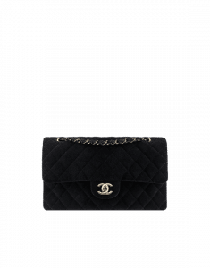 Chanel Black Velvet Medium Classic Flap Bag