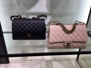 Chanel Black and Light Pink Small and Large Trapezio Bags