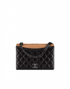 Chanel Black/Beige Calfskin/Fabric Ballerine Flap Bag