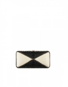 Chanel Black/Ivory Python Evening Bag