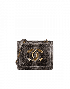 Chanel Bronze Python Large CC Flap Bag