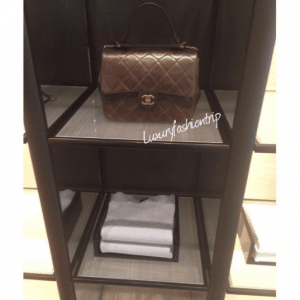 Chanel Brown Gold Bar Top Handle Bag 3