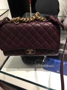 Chanel Burgundy Large Trapezio Bag