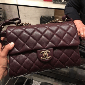Chanel Burgundy Small Trapezio Bag