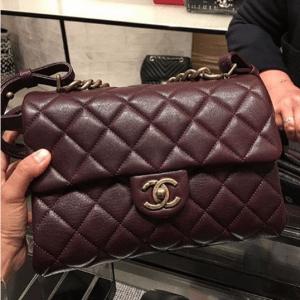 Chanel Burgundy Small Trapezio Bag