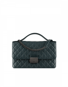 Chanel Dark Green CC University Large Flap Bag