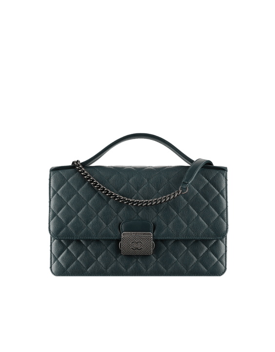 Chanel Dark Green CC University Large Flap Bag cd0e3020077cf