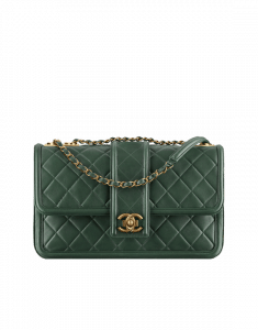 Chanel Dark Green Quilted Calfskin Flap Bag